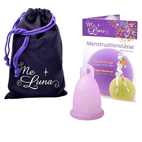 Me Luna Menstruationstasse Soft, Ring, Rosa, Größe M