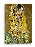 Leinwand (60x80cm): Gustav Klimt - Der Kuss (1907-1908)