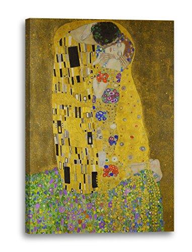 Leinwand (70x100cm): Gustav Klimt - Der Kuss (1907-1908)