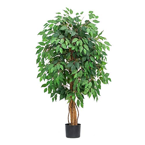 Artificial Plants Artificial Weeping Fig Tree Simulation Plant Large False Tree Living Room Interior Storefront Decoration Green Plant Artificial Flora (Color : B)