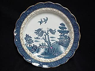 BOOTH'S BREAD & BUTTER PLATE, REAL OLD WILLOW (GOLD TRIM) 6