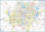 Dallas - Fort Worth Metro Area Laminated Wall Map
