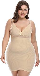 Plus Size Shapewear Slips for Women Tummy Control Full Body Shaper Slip Seamless Body Slimmer (Nude-1, 3XL)