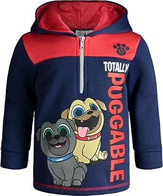 Disney Puppy Dog Pals Toddler Boys Fleece Hoodie Pullover Sweatshirt Zipper Navy 4T