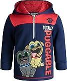 Disney Puppy Dog Pals Toddler Boys Fleece Hoodie Pullover Sweatshirt Zipper Navy 5T