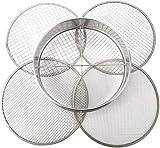 Patioer Cacerola de acero inoxidable con filtro de tierra, con 4 tamaños de malla intercambiables (3, 6, 9, 12 mm)