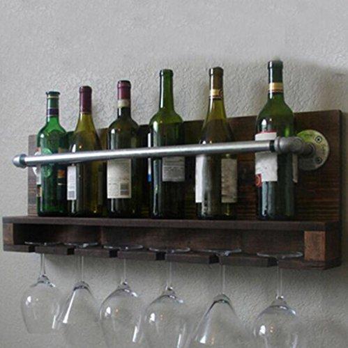 HQQ Estantería de Vino de Madera Maciza, mostrador de vinos/Estante del Vino Estante del Vino/de Madera de Fresno Estante del Vino de Pared/Pintura Verde Muebles de Restaurante