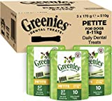 Greenies Daily Original Petite Dog Treat (From 8-11 kg) – The Smart Dental Treat – 3 x 170 g - 30 Chews