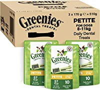 For your four-legged friend: Chewing snack for Petite dog breeds / Unique chewy texture that helps reduce plaque and tartar build up / Easily digestible treat for fresh breath and oral hygiene GREENIES Dental Treats are developed with veterinarians a...