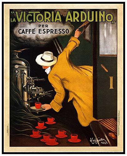 Victoria Arduino 1922 Metallschild 'Food Drink', Aluminium, schicker Vintage-Look, Metallplatte, langlebig, für Büros, alle Arten von individuellen Charakteren oder Heimdekoration, 20 x 30 cm