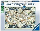 Ravensburger Puzzle 16003 - Weltkarte mit fantastischen Tierwesen - 1500 Teile Puzzle für...