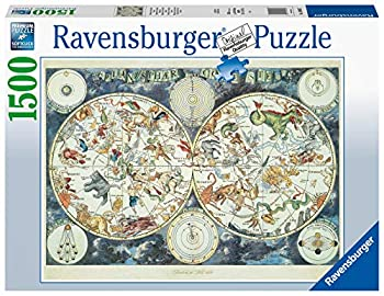 Ravensburger 16003 Map of The World 1500 Piece Puzzle for Adults - Every Piece is Unique Softclick Technology Means Pieces Fit Together Perfectly