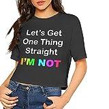TYUHN Top Court à Manches Courtes pour Femmes I 'm Pas LGBT Rainbow Flag Print T-Shirt Basique