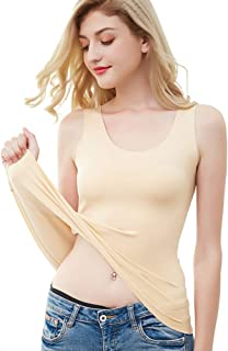 CRYYU Women Underwear Crew 2-Piece Seamless Thermal Top with Pants