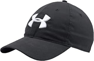 Under Armour Men's Core Chino Golf Hat OSFA Black White Cap Strap Back 1296629