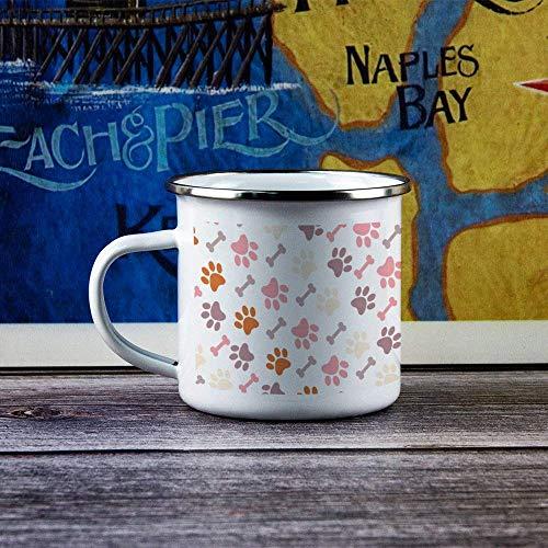 Taza de esmalte para campamento, vaso, melocotón rosa, patas bonitas, duradera, para senderismo, fogata, café, té, viaje, esmalte, para bebidas, para aniversario, Navidad, regalo de Acción de Gracias,