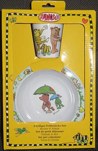 Janosch 2-teiliges Frühstücks-Set Becher & Schale