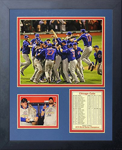 Chicago Cubs All Time Greats MLB Framed 8x10 Photograph World Champs Collage