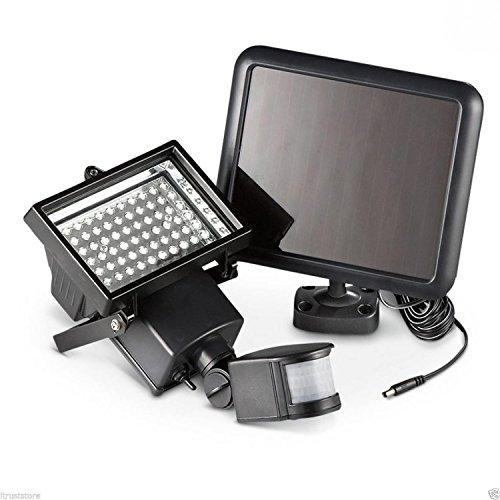 LED 100灯 搭載 人感センサーライト 850lm 太陽光 ソーラー パネル 防犯 玄関灯