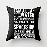 Decorative Square Pillow Case Cushion Cover 16X16 Inches Firefly Subway Poster