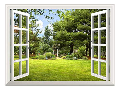 wall26 Peel and Stick Wallpapaer -Collage - | Removable Large Wall Mural Creative Wall Decal (36'x48', Garden View)