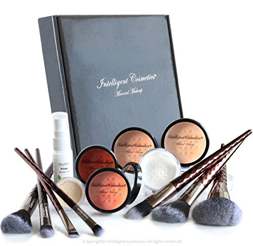 MEDIUM SKIN Bare Face Affection Minerals 13 piece Complete Set Sheer Finish Mineral Makeup Foundation Flawless Full Coverage