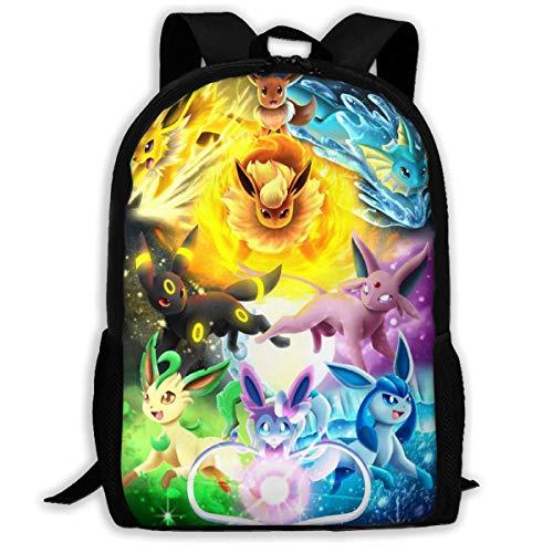 Kids E-Evee Evolution Backpack Students Bookbags Durable Daypacks Rucksack 17 Inch for Boys&Girls