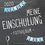 Meine Einschulung 2020 Fotoalbum zum Schulanfang für Jungen: Erinnerungsalbum & Gästebuch als Geschenk für die Schultüte zum ersten Schultag