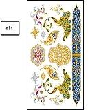 JIEIIFAFH Un Conjunto de 6 Pegatinas de Personalidad de Color de Tatuaje Temporal al Aire Libre Estampado en Caliente Pegatinas de Tatuaje a Prueba de Agua (Color : 6-Piece Set)