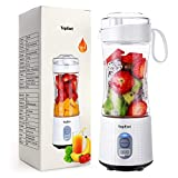 Portable Blender, TOPESCT Personal Mini Size Blender for Smoothies and Shakes, Six Blades