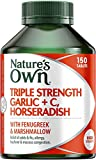 Nature's Own Triple Strength Garlic + C, Horseradish - Reduces Severity of Colds