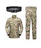 KYhao - Traje táctico Militar de Camuflaje para Hombre, Caza, Combate BDU, Camisa Uniforme y Pantalones con cinturón para Tiro, Caza, Juego de Guerra, Airsoft, Paintball, XL, CP