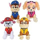 4 piece Paw Patrol Plush Pup Pal 4 Pcs Character Plush Set Marshall Chase Rubble Skye 15cm