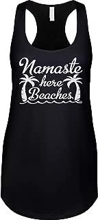 Womens Racerback Tank Namaste Here Beaches - Funny Saying