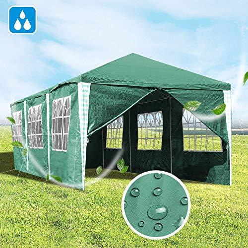 LXDDP Tente chapiteau Gazebo Jardin Tente Partie 3x9m avec la Protection UV Panneaux latéraux, Cadre en Acier Enduit Poudre pour la fête Jardin Mariage en Plein air
