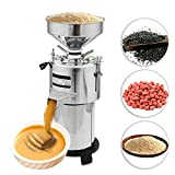 Electric Peanut Butter Maker Machine 200-240V 1500W 15KG/H Sesame Almond Milling Grinder With Wet-Type Processing Method For Commercial and Home