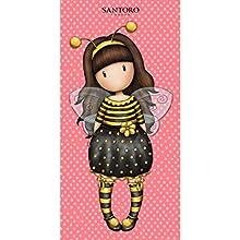 Halantex – GOR8828T – Santoro niña Abeja Just Bee-Cause toalla de playa y baño original oficial – Multicolor – 150 x 75 cm