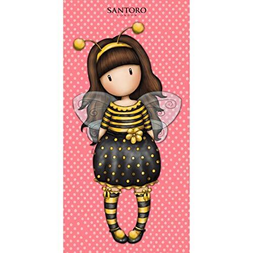 Halantex – GOR8828T – Santoro niña Abeja Just Bee-Cause toalla de playa y baño original oficial – Multicolor – 150 x 75 cm 🔥