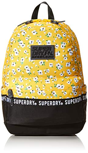 Superdry Repeat Series Montana Women's Backpack Handbag, Yellow (Yellow Aop), 13.5x46x30.5 Centimeters (B x H x T)