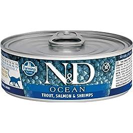 Farmina Natural & Delicious feline Ocean con Salmone, Merluzzo e Gamberetti 80 gr umido