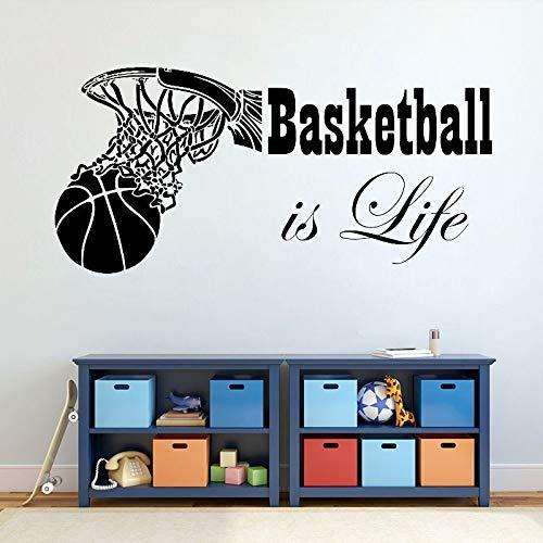 Basketball is life basketball hoop deportes vinilo pegatinas de pared   cocina y comedor pegatinas de pared vinilo decoración para el hogar