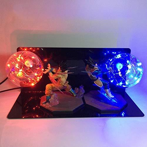 Dragon Ball Z Son Goku Led Licht Lampe,Dragon Ball Z Vegeta Son Goku Schlacht Super Saiyajin Led Nachtlampe Anime Dbz Rgb Nachtlicht Home Table Decor Lichter Us Blau Und Rot