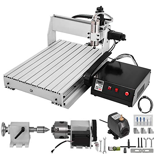 BananaB 6040 4 Axis CNC Machine Kit 600x400mm Pro Milling Machine CNC Engraving Machine 800W MACH3 CNC Router Machine USB cnc graviermaschine 4 achse (6040 4 Axis)