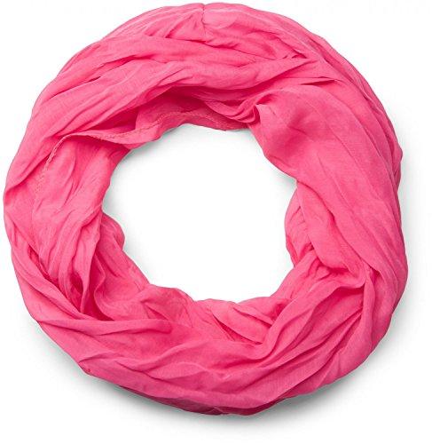 styleBREAKER leichter unifarbener Loop Schlauchschal, seidig, Unisex 01016076, Farbe:Pink