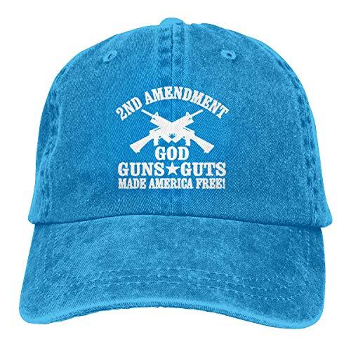 KioHp 2e Amendement God Guns Guts Classic Plain Unisex Vintage Grote Honkbalpet Fit Outdoor Activiteiten Snel Drogen Lage Profiel Hoed