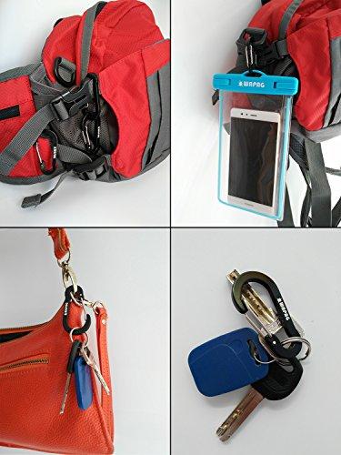WAPAG Carabiner Keyring 5cm / 2 inch mini Carabiner Clip Aluminum Small Carabiner for Key Backpack Hiking Running Camping Accessories (14Color)