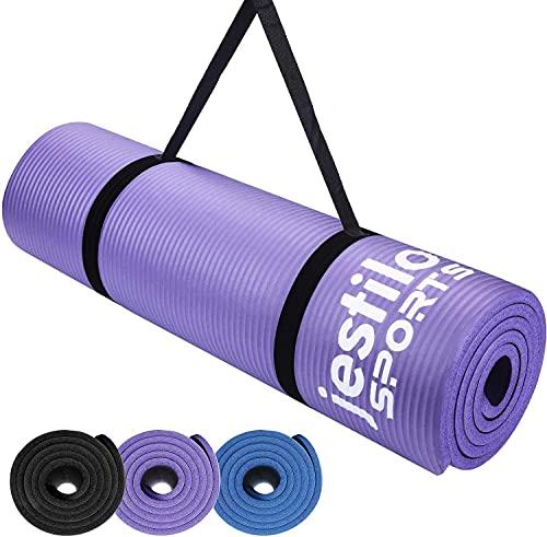Jestilo Yoga Mat for Women and Men| Non-slip NBR exercise mat | Eco-friendly, Light-Weight Mat with...