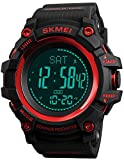 S Shock Military Sports Watches Compass Pedometer Calories Mens Watch Digital Waterproof Electronic Watches Men Wristwatch (Red)
