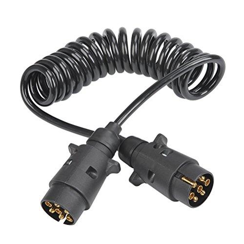QLOUNI Remolque Conector Enchufe Impermeabilidad TPU Gancho