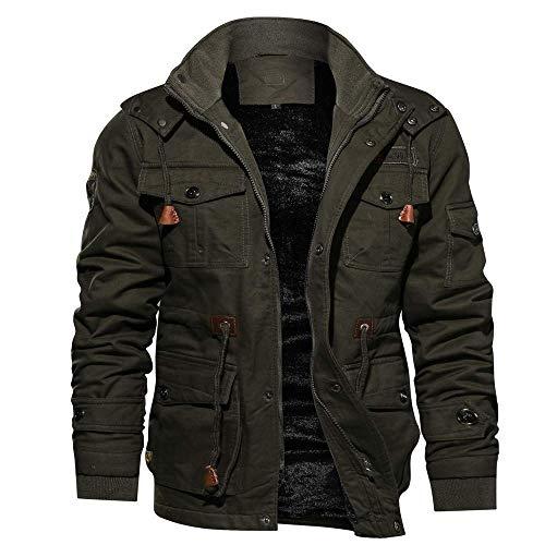 Adelina heren winterjas van het merk Parka Bomberjack pilotenjack 4-in-1 modieuze completikeuze heren winter kasjmier verdikt pocket katoen coat outwear ademende mantel